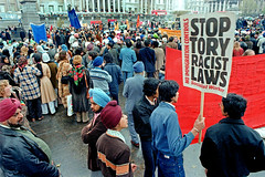 Demonstration against racist immigration laws, Trafalgar Square 1979