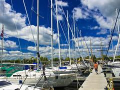 Sailboats (jj8rock) Tags: blue sky lake ontario clouds marina boats bluesky kingston saliboats jj8rock