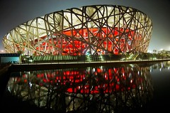 Bird Nest - A outside view (cavenli2008) Tags: china stadium beijing olympics 2008 birdnest nationalstadium