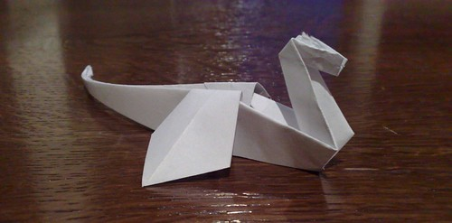 Simple origami dragon