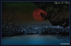 Sembra... ma così non è - Febbraio-2017 (agostinodascoli) Tags: art digitalart texture landscape sicilia cianciana nikon nikkor creative cielo luna paesaggi alberi photoshop photopainting