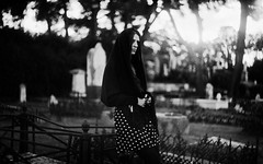 (Victoria Yarlikova) Tags: monochrome iso100 selfportrait zenit film analog portrait darkroom vintage retro scan grain dust cemetery 35mm cinematic