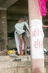 Tying Langoti 2 Varanasi (amiableguyforyou) Tags: india men up river underwear varanasi bathing dhoti oldmen ganges banaras benaras suriya uttarpradesh ritualbath hindus panche bathingghats ritualbathing langoti dhotar langota