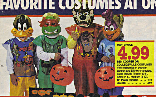 "Children's Palace - ""GRAND OPENING, All Stores Celebrate"" { Colorado Springs C.P. }  Sunday Newspaper supplement .. pg.8 // Ben Cooper & Collegeville Costumes (( October 28,1990 ))"