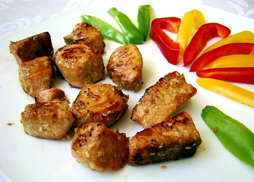 лосось в горчично-медовом маринаде