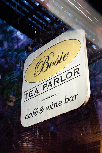 Bosie Tea Parlor's sign