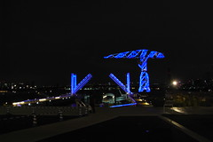 night blue bridge