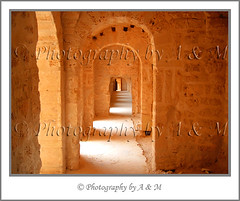 Arches in Passageway (I Spy with my Idiosyncratic Eye ...) Tags: building scale monument stone architecture sandstone arch northafrica tunisia path interior sandy perspective corridor indoor arches historic size indoors national historical inside passage fortress height passageway tunisian monastir arched ribat northafrican decreasing lineof almunastir photographybyaandm photographybyam