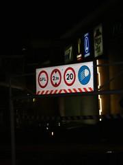 Sinalização do parque de estacionamento do Oeiras Parque