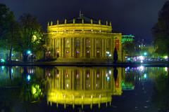 Staatstheater Stuttgart (Thomas Reichart ) Tags: lake reflection nightshot stuttgart five noise hdr longtimeexposure staatstheater 5x hdratnight stuttgartstateopera erkensee