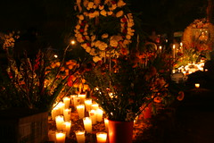 IMG_3909 (y.awanohara) Tags: flowers orange mountains cemetery night rural dayofthedead mexico village celebration offering panteon diadelosmuertos michoacan patzcuaro ofrenda tzintzuntzan november2007 yawanohara