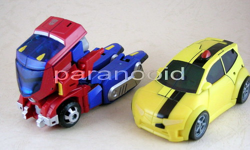 Bumblebee y Optimus Prime Animated modo alterno