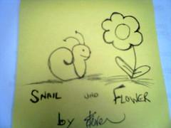 Snail und flower