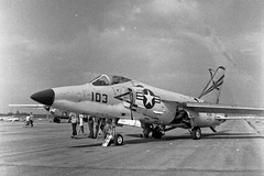 Grumman F11F Tiger in July 1957 (Lance & Cromwell) Tags: us aircraft military tiger navy jet usn grumman oldplanes warplanes f11f