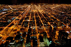 Sears Building (Blu3_Sky777) Tags: world light chicago tower matrix night nikon downtown shot sears line d40 35faves superaplus aplusphoto travelerphotos