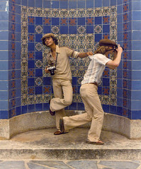 Frozen in Time... the 70's (4Durt) Tags: tiles catalinaisland 1979 blastfromthepast the70s bellbottoms wrigleymemorial curttoumanian photodomino523