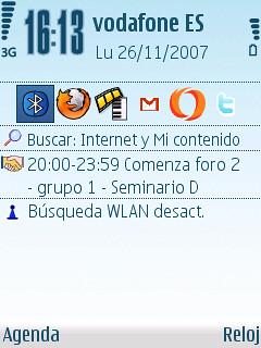Pantalla presentación Nokia N95