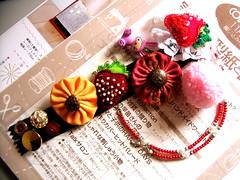 Strawberry Dreams Necklace/Pins Set