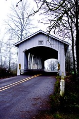 Larwood Bridge - a covered bridge outside of Scio Oregon in Linn County