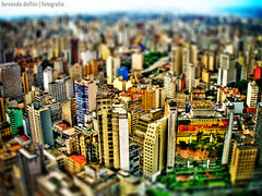 |HDR| So Paulo - Fake Tilt-Shift (Fernando Delfini) Tags: city blur colors canon buildings reflex sopaulo shift aerial sampa sp saturation fernando paulo tilt 2008 so hdr treatment delfini a620 colorphotoaward colourartaward