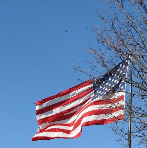 american flag near delmar
