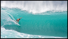 Tube (konaboy) Tags: hawaii surf oahu surfer tube wave surfing northshore antfarm banzaipipeline dahuibackdoorshootout 14662b