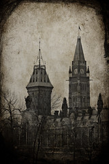 Old Parliament hill (ViaMoi) Tags: blackandwhite canada art classic photoshop flickr antique ottawa capital parliament screen effect digitl gruge viamoi