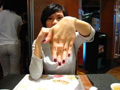 aggy showin off her soop ring (demightyshiva) Tags: home dinner ring agnes crystaljade soop