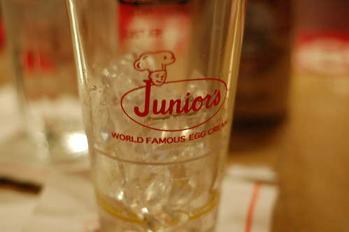 empty Junior's glass