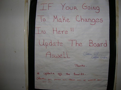 IF YOUR GOING TO MAKE CHANGES IN HERE!!