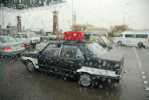 Cairo, Taxi, Rain