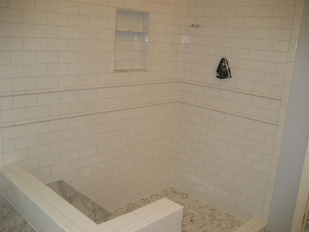 Niche using subway tiles shower niche using subway tiles dailygadgetfo Image collections