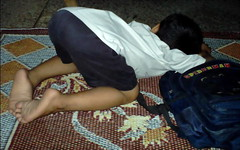 Let me sleep (M.Rizwan Rafique) Tags: kids children student sleep boring study
