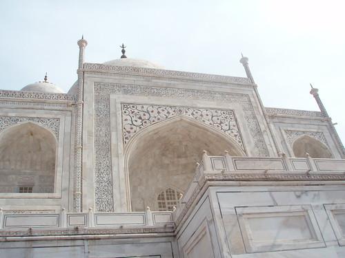 Detalle de los grabados del Taj Mahal