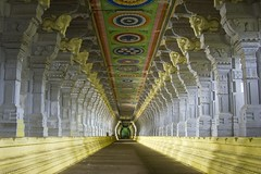 Corridor of Ramnathswamy Temple, Rameshwaram (the largest in the world) (SaurabhChatterjee) Tags: india temple corridor longest shiva rama tamilnadu rameshwaram rameswaram ex