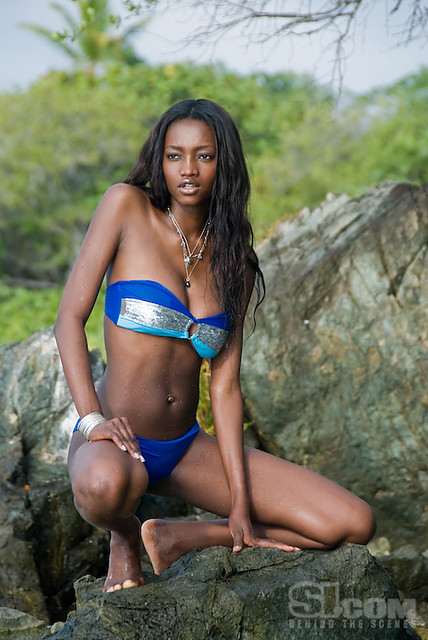 Nigerian Oluchi Onweagba poses on location on St. John, Virgin Islands