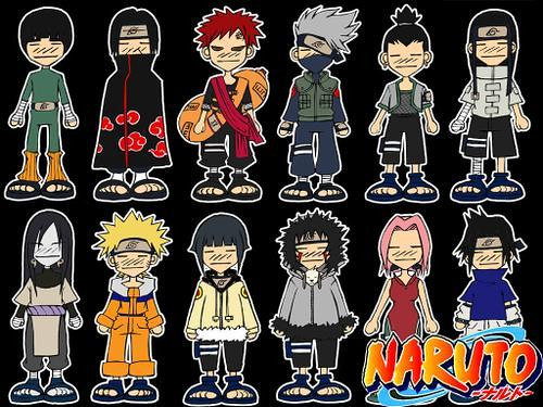 naruto characters pictures. Chibi Naruto Characters
