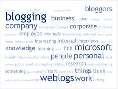 Tagcrowd: blogposts related to chapter 6 (Microsoft)