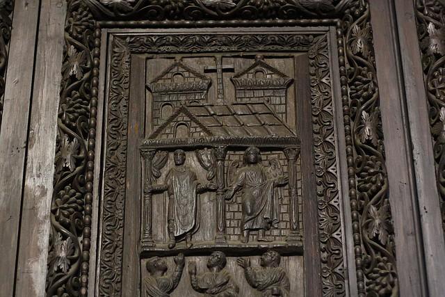 5th-century carved door