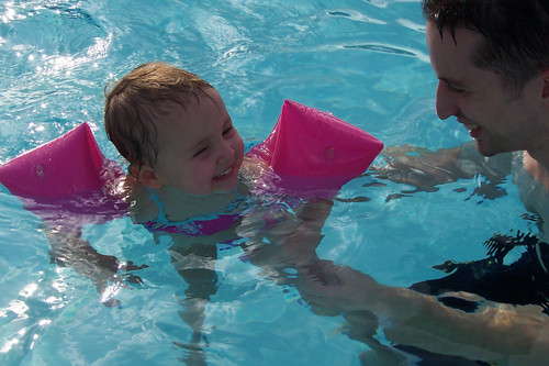 Swimming with Daddy