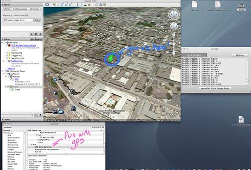 GPS + Google Earth = fun