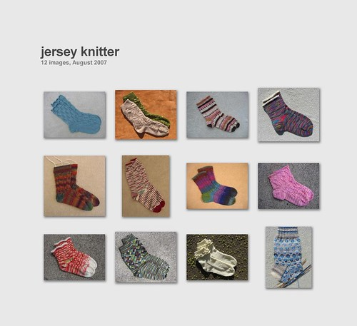 Collage of sock