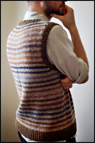 Striped Vest (by b r o o k l y n t w e e d)