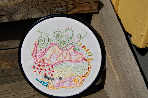 Freeform LOVE embroidery