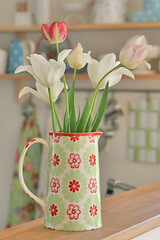 Another bouquet of tulips (Craft & Creativity) Tags: flowers flower kitchen tulips bouquet pitcher greengate