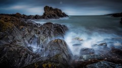 Hard and Soft (Augmented Reality Images (Getty Contributor)) Tags: canon clouds coastline landscape leefilters littlestopper longexposure moody morayfirth portsoy rocks scotland seascape water waves