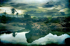 subconsciousness (Maaar) Tags: bali seascape storm reflection art texture beach photoshop landscape hope sadness fear faith peaceful worry echobeach hopeless solbeach restlessness canggu img4133 alambawahsadar