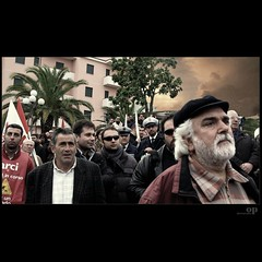 Hard Times / Tempi Duri (Osvaldo_Zoom) Tags: portrait people italy workers bravo political protest social demonstration desaturated hardtimes