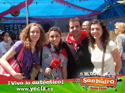 Equipo del Blog de San Isidro (Seis Grados) y Noemí Martínez