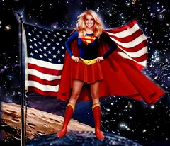 "SUPERGIRL : ""...and who disguised as Jessica Simpson..."" (DarkJediKnight) Tags: superman metropolis supergirl dccomics superheroes jessicasimpson"